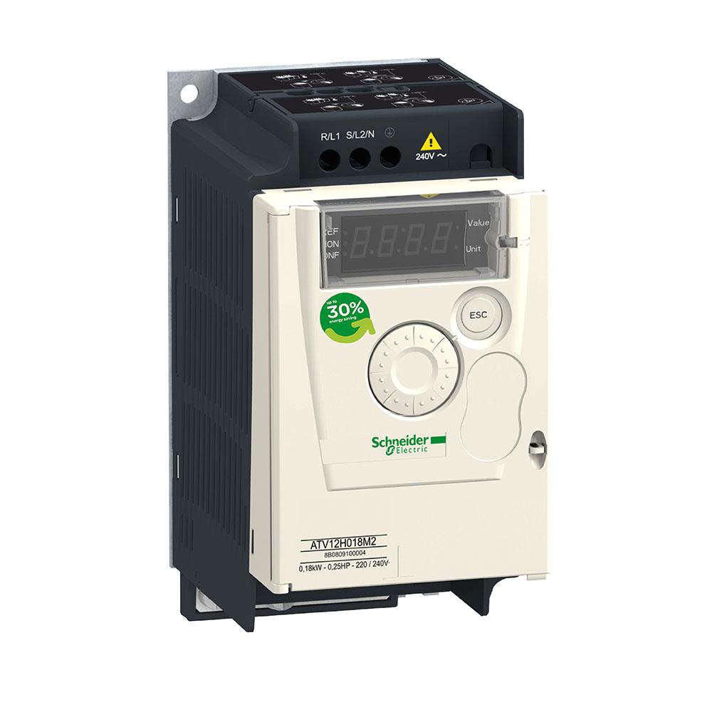 Inversor de Frequência Alimentação 220V Monofásico Saida 220 Trifásico 0,25CV ATV12H018M2  SCHNEIDER