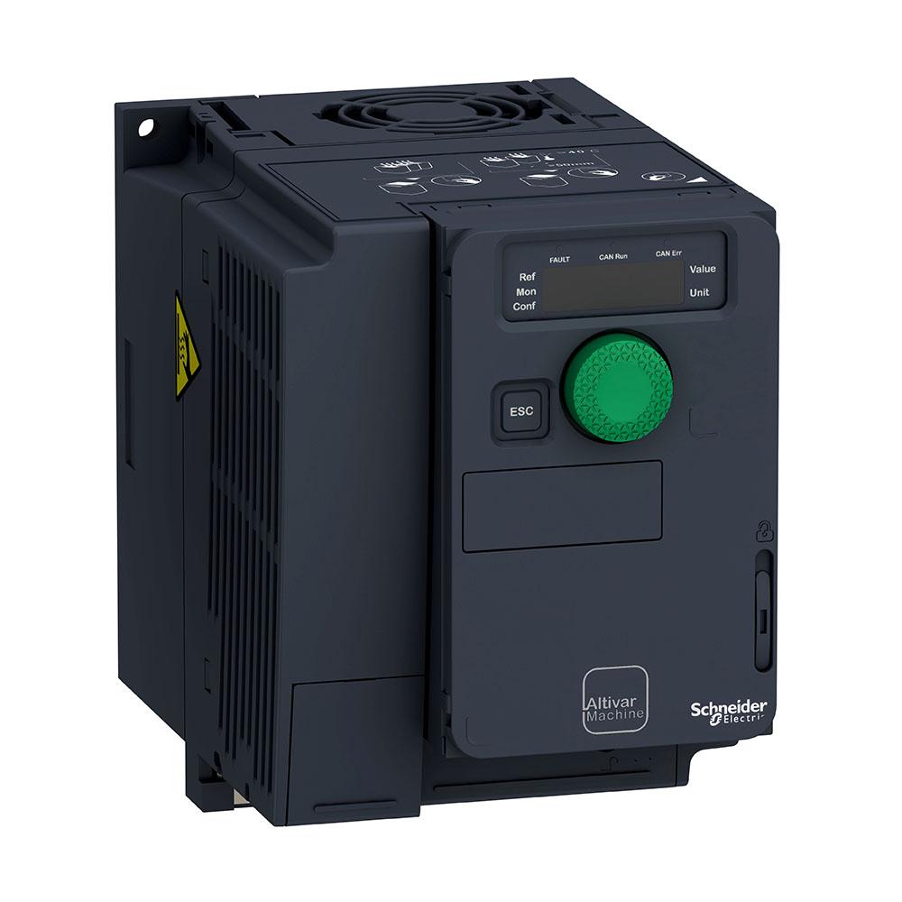 Inversor de Frequência Alimentação 380V Trifásico Saida 380V Trifásico 1CV ATV320U07N4C SCHNEIDER