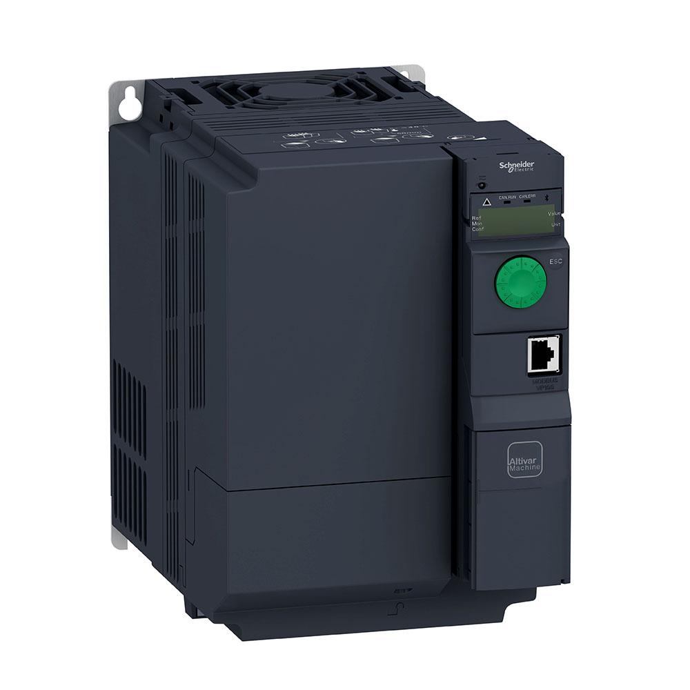 Inversor De Frequência Alimentação 380V Trifásico Saida 380V Trifásico 7,5Cv Atv320U55N4B Schneider