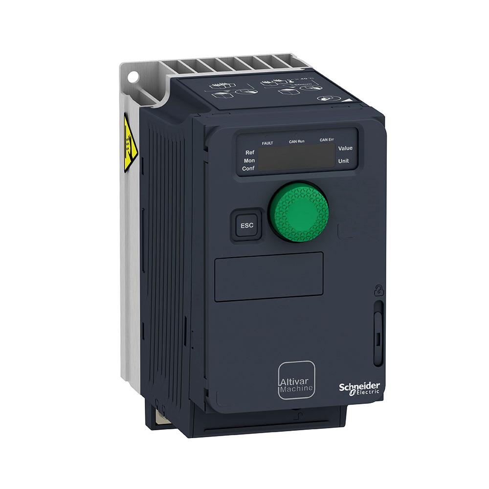 Inversor De Frequência Alimentação 220V Monofásico Saida 220V Trifásico 0,5Cv Atv320U04M2C Schneider
