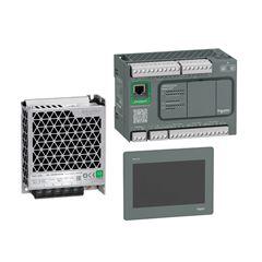 Kit De Automação Ihm 10 Polegadas Interface Homem Maquina Hmigxu5512 + Clp De 24 Io Tm200Ce24R+ Fonte 2,2A Abl2Rem24020K Schneider