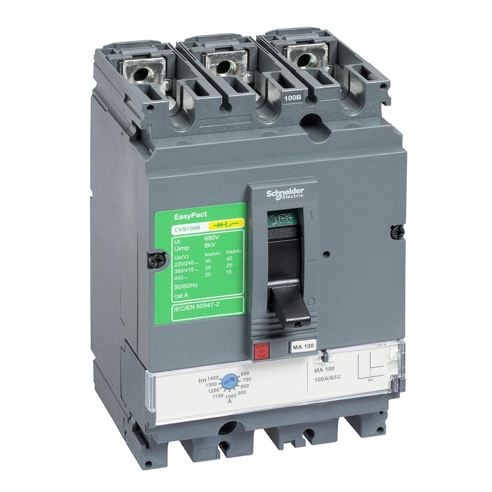Disjuntor Easypact Cvs160F Tm160D 3P Schneider