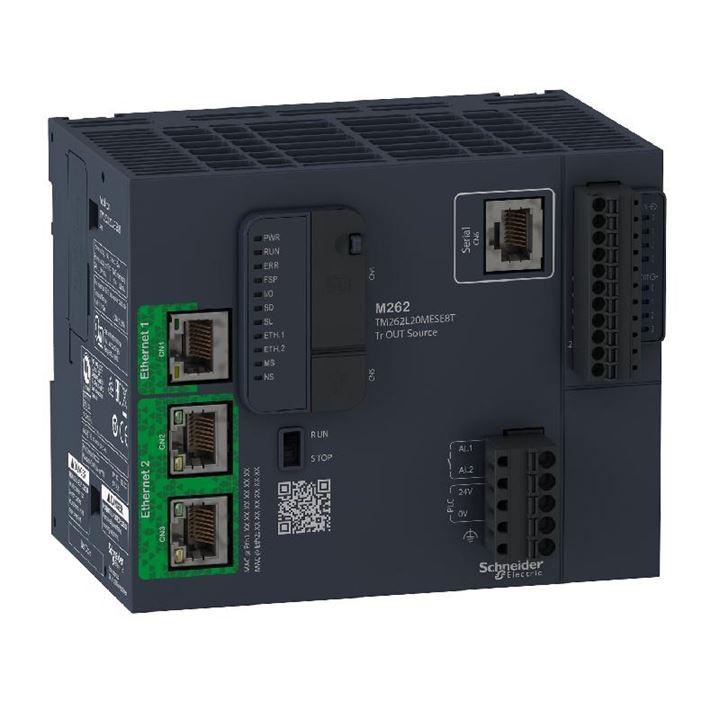 Controlador Lógico Programável - 4 Entradas / 4 Saídas Digitais - Saídas Source (PNP) - Modbus TCP/Ethernet IP - 24 Vdc TM262L20MESE8T Schneider