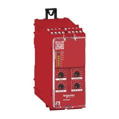Relé de Segurança Cat. 4 - 8 LEDs - PL e / SILCL 3 - 3 Canais de Entrada - 6 Saídas NA / 1 Saída NF - Conector Parafuso - 48...230 Vac/cc XPSUAT33A3AP Schneider
