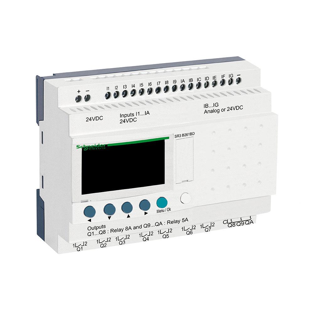 Rele Zelio Logic Sr3B261Bd 24Vcc Schneider