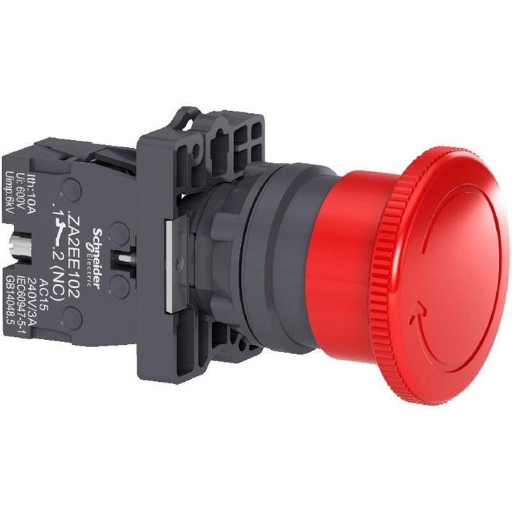 Botao 22Mm Plástico De Emergencia 1Nf Vermelho Xa2Es542 (Emerg./1Nf/Vm) Schneider