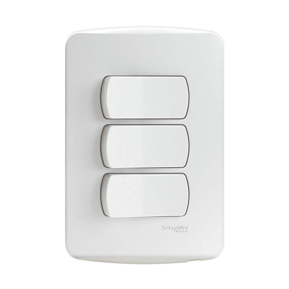 Interruptor S3B62210 (3Teclas/10A/Br) Schneider