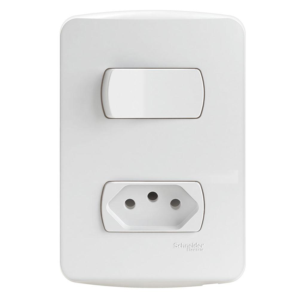 Interruptor S3B69030 (1Tecla+1Tomada) Schneider