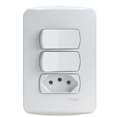 Interruptor S3B69050 (2Teclas+1Tomada) Schneider
